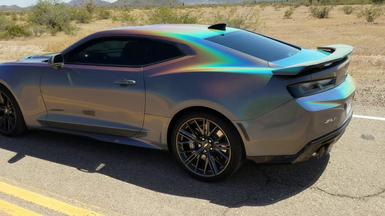 Zl1 Wrapped With 3m Gloss Psychedelic Flip Youtube