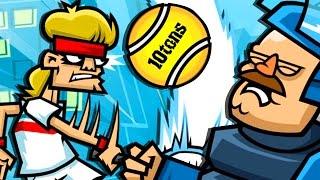 SOWAS ABZUBEKOMMEN TUT STARK WEH !!! (Tennis in the Face)
