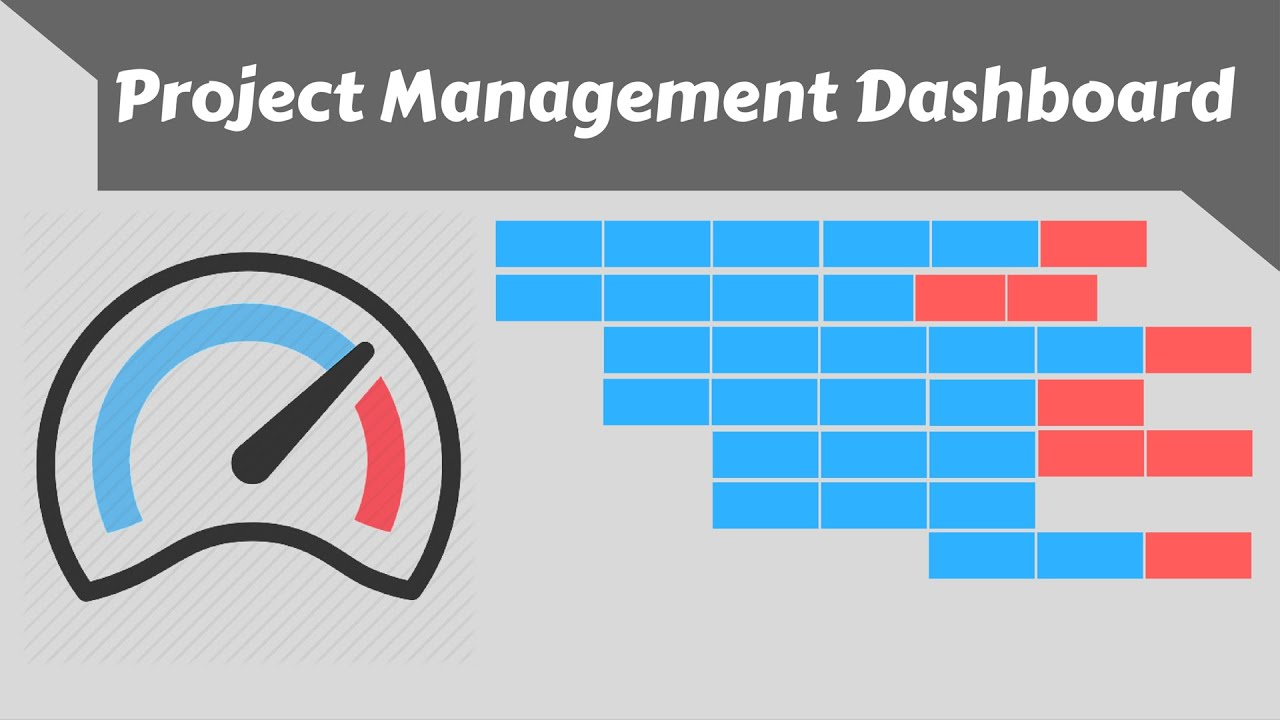 excel project management dashboard template using speedometers youtube