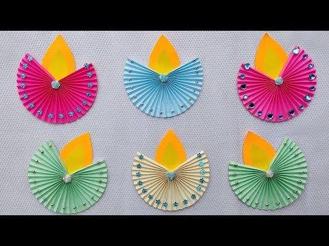 Easy Diwali Decoration Ideas l Diwali Decoration DIY l Paper Diya Craft l Diwali Home Decoration