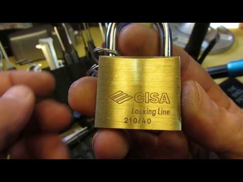 Взлом отмычками CISA 210/40  (263) CISA 210/40 Padlock