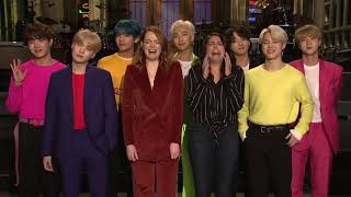 190412 Emma Stone and Cecily Strong Are Freaking Out About BTS - SNL (Saturday Night Live)