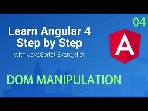 DOM Manipulation In Angular 2 Web Application #04