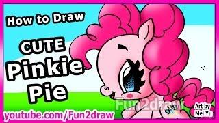 Cartoon + Movie Characters - Pinkie Pie - How to Draw My Little Pony Fun2draw
