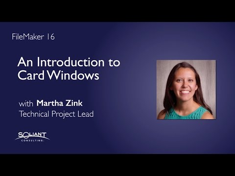 FileMaker 16: An Introduction to Card Windows