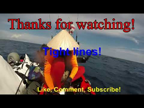 Florida Offshore Kayak Fishing Rivera Beach 10-7-2017 Vertical Jigging