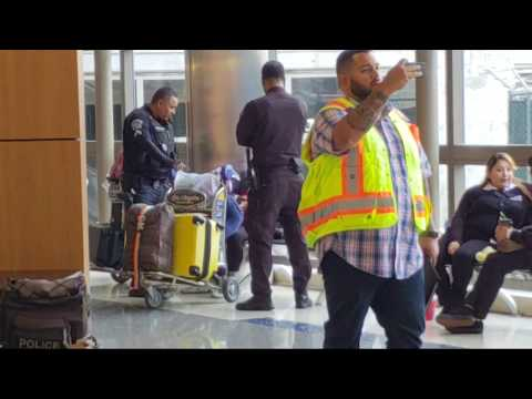 Lax airport police on a suspicious person at lax