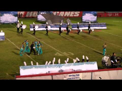Lakewood Ranch High School Marching Mustangs at the 2015 Manatee FPA MPA
