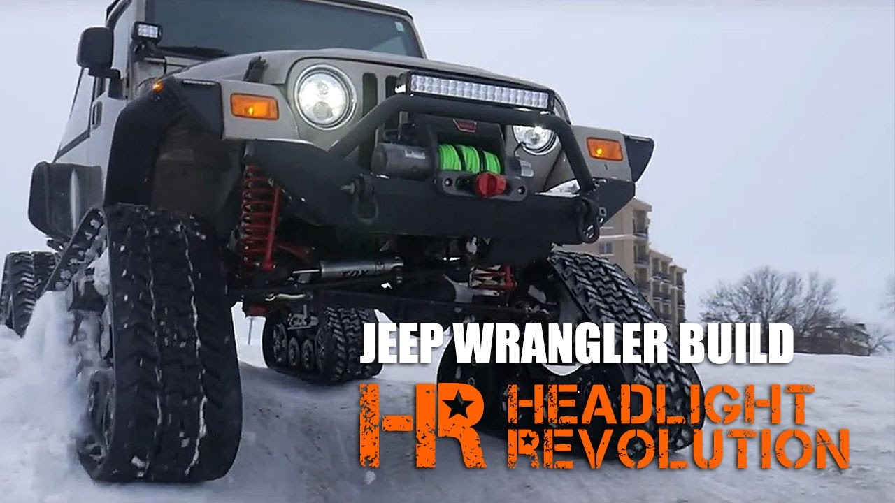 Jeep Wrangler Tj With Tracks Led Headlights Light Bar Offroad Wiring Upgrades Headlight Revolution Youtube