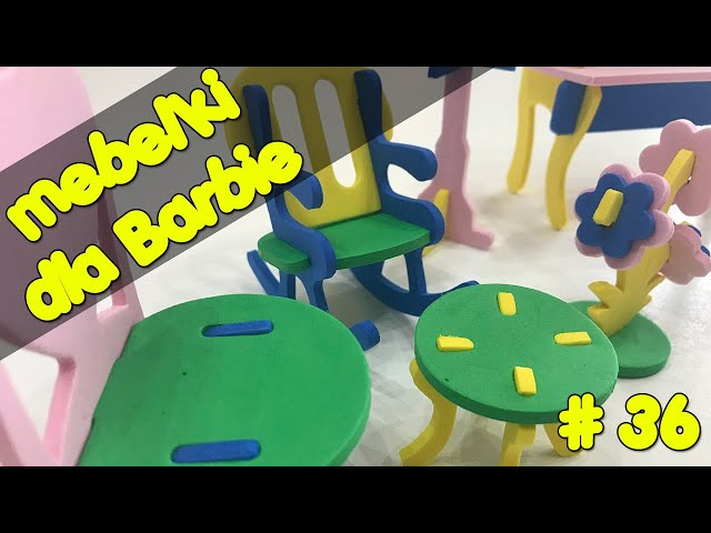 Meble dla lalek Barbie za kilka złotych   Meble z folii piankowej   Zrób to sama #36