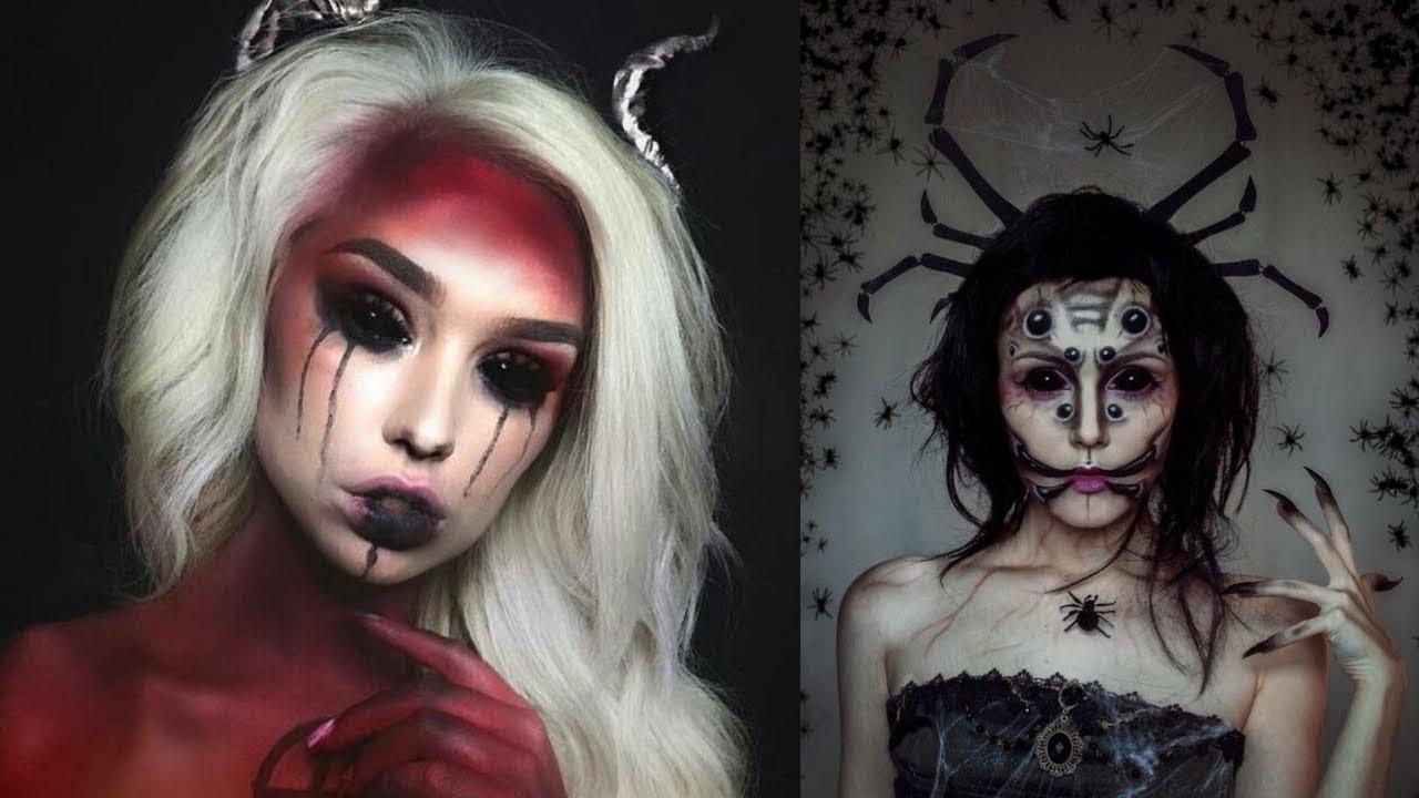EASY HALLOWEEN MAKEUP TUTORIAL - DEMON #3 - YouTube  Demon Halloween Makeup