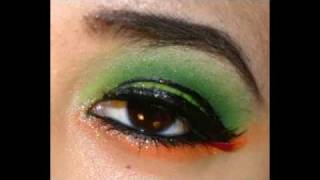 Neon Green & Orange Makeup Tutorial Using Kryolan UV Palette Thumbnail