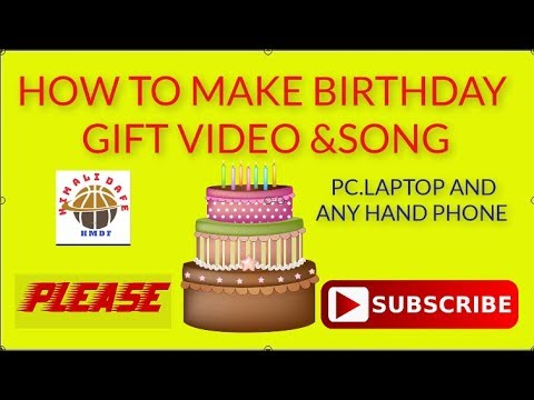 How to Make Name with Happy Birthday Video Song in nepali