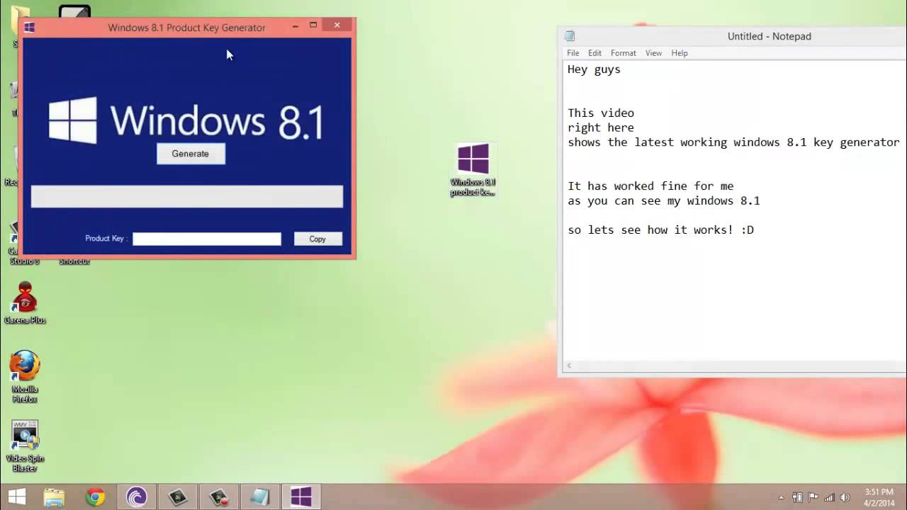 Windows 8 1 product key generator 2014 youtube for Window 8 1 product key