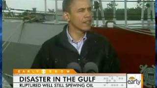 Obama Inspects Oil Spill Clean-Up