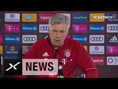Carlo Ancelotti über Douglas-Costa-Wechsel und Philipp Lahm | FC Bayern München - VfL Wolfsburg
