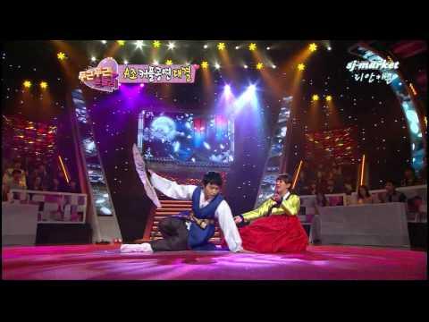 120124 Sungmin & Hyorin performing Korean traditional opera