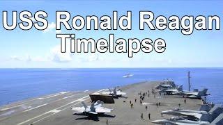 USS Ronald Reagan (CVN-76) Timelapse