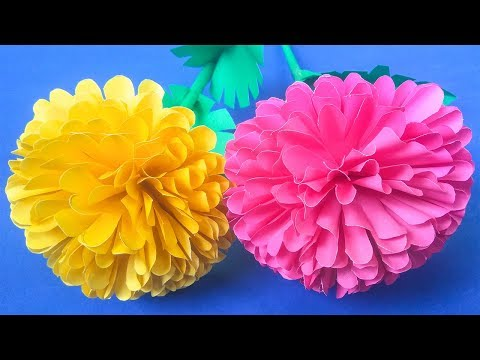 How to Make Beautiful Marigold Flower with Paper   Easy origami flowers Making   CraftBlossom