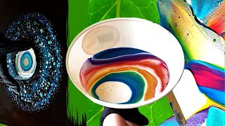 The Ideas Are Endless 5 In 1 Paint Pouring Video Easy Abstract Acrylic Art Youtube