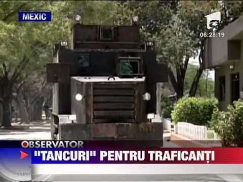 Tancuri artizanale confiscate in Mexic 7 IUNIE 2011