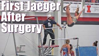First Jaeger after Elbow Surgery  Whitney Bjerken Gymnastics