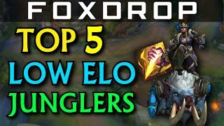 Top 5 Junglers for Low Elo - League of Legends