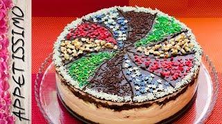 Торт без выпечки Радужный калейдоскоп / No-bake Cake Rainbow Kaleidoscope