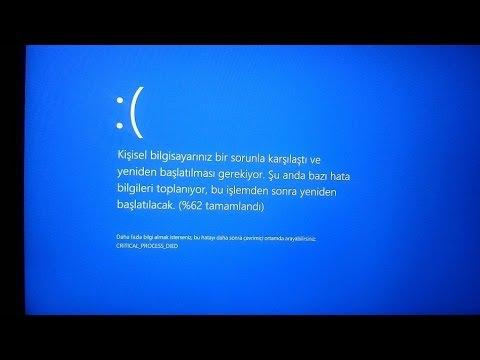 Windows 10 Mavi Ekran Sorunu Çözümü