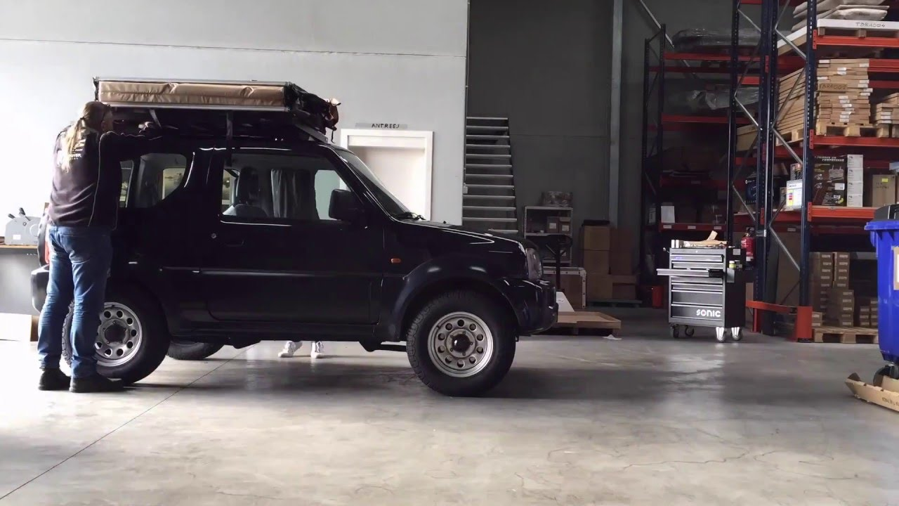 Front Runner Roof Rack and Roof Tent Jimny installation timelapse - YouTube & Front Runner Roof Rack and Roof Tent Jimny installation timelapse ...