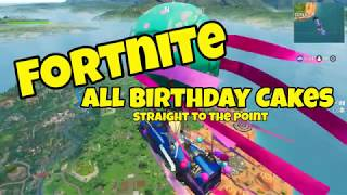 Fortnite - Birthday Cake Locations Guide - Straight to the Point