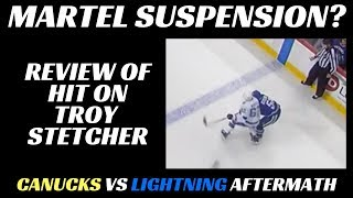 Martel Suspension? Reviewing Hit on Stetcher