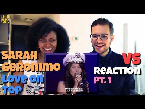 Sarah Geronimo - Love On Top VS Reaction pt.1
