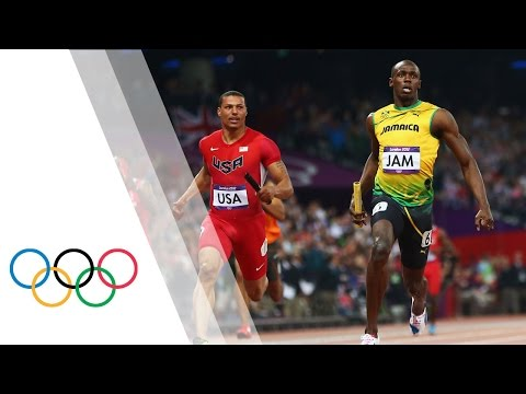 Jamaica Break Mens 4x100m World Record - London 2012 Olympics
