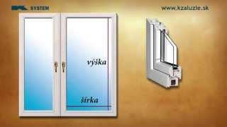 Inštruktážne video - žalúzie do plastových okien - zameranie - Kzaluzie.sk