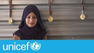 Syrian refugee girls challenging stereotypes with football   UNICEF