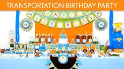 Transportation Birthday Party Ideas // Transportation - B136