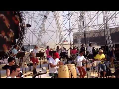 Trompetista Nelson Gómez en Prueba de Sonido Con Alberto Barros