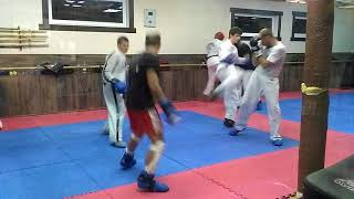 Таеквондо МФТ Леонов Александр Сергеевич Фрагмент тренировки Taekwondo ITF training