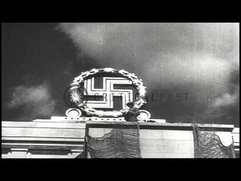 German officials sign the surrender documents at the end of World War II. HD Stock Footage