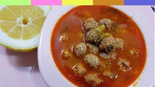 Ramazanda Vaz Geçilmeziniz Olacak.  Köfteli Ispanak Sapı Çorbası Besleyici ve Doyurucu
