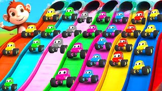 Funny Monkey and Forest Animals Car Race Slider Parking Games   Funny Animals in Forest 3D Videos