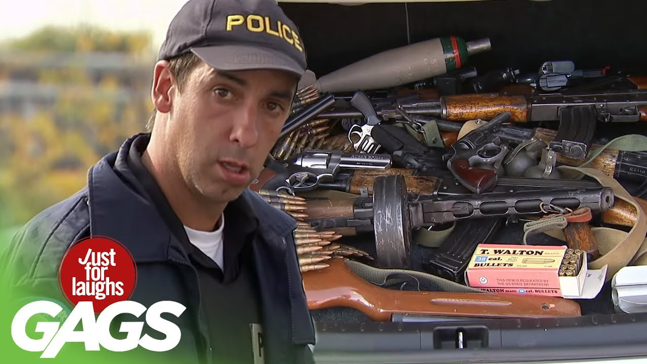 Badass Granny and her Guns Prank! - Just For Laughs Gags
