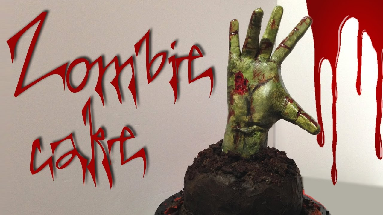 ZOMBIE HAND CAKE How to make this scary Walking Dead zombie cake