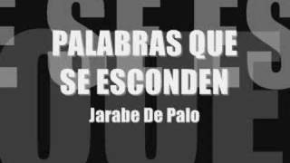 Watch Jarabe De Palo Palabras Que Se Esconden video