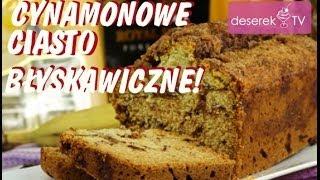 Ciasto Cynamonowe przepis świąteczny z rodzynkami od Deserek.TV