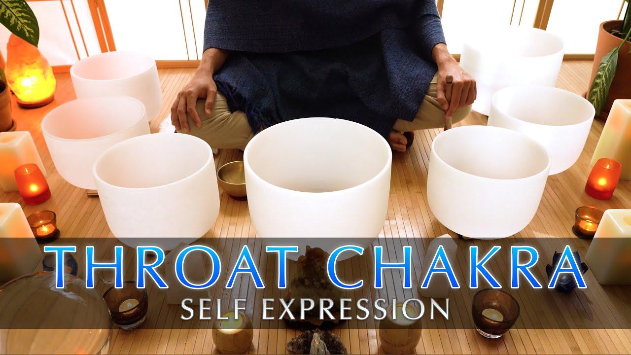 Throat Chakra Cleanse | Crystal Singing Bowl Sound Bath | Expression Meditation | Short 9 Minutes
