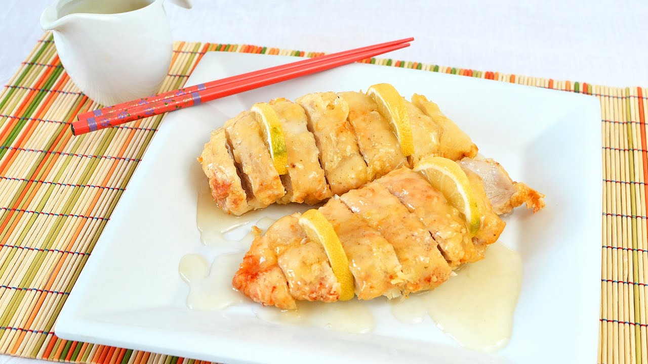 Chinese Lemon Chicken - How to Make Fried Chicken Breast ...