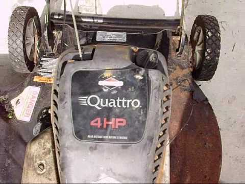 Trash Picked Lawn Mower With Briggs And Stratton Quattro Engine