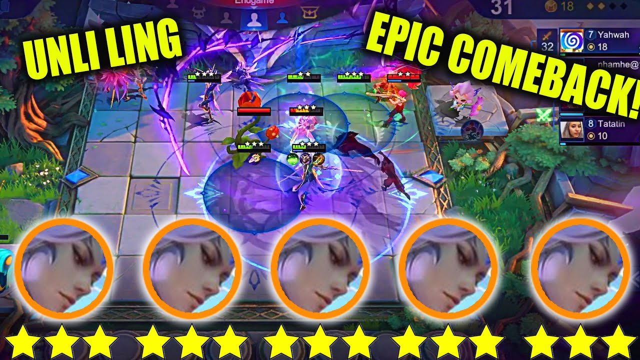 NEW TRICK UNLIMITED 3 STAR LING BEST EPIC COMEBACK EVER?NEW META THARZ SKILL META ABUSE! MUST WATCH!